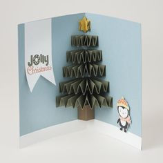 Here are some fun Christmas cards to make. Many are kid-friendly, but grown-ups can enjoy making these paper holiday greetings, too. Christmas Card Crafts, Christmas Cards To Make, Xmas Cards, Diy Cards, Holiday Cards, Christmas Crafts, Christmas Ideas, Christmas Tree, Happy Birthday Jesus
