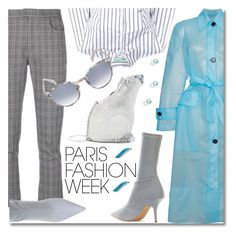 """Pack and Go: Paris Fashion Week"" by ilona-828 ❤ liked on Polyvore featuring Calvin Klein 205W39NYC, Judith Leiber, Étoile Isabel Marant, Off-White and Italia Independent"