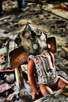 results of mankind #gasmask #doll