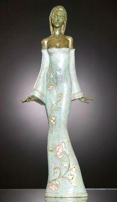 By Marie-Paule Deville-Chabrolle Pottery Sculpture, Sculpture Clay, Bronze Sculpture, Statue Ange, Sculptures Céramiques, Art Plastique, Clay Art, Figurative Art, Ceramic Art
