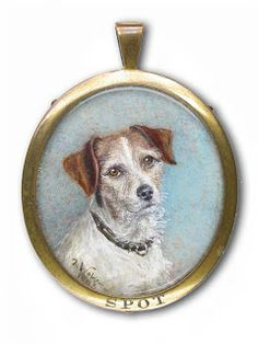 1903 Signed and dated. Mohala Theodora Webb. Jack Russell Terrier called 'Spot'