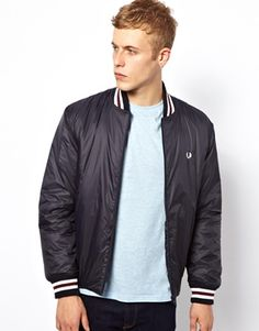 Fred Perry Bomber Jacket with Tipping
