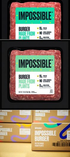 Impossible Burger Finally Lands In Grocery Stores | Dieline