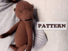 PATTERN for 15 inch artist bear diy teddy bear pattern