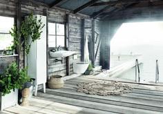 Scandinavian interior design vibe for outdoor Scandinavian Interior Design, Scandinavian Home, Jacuzzi, Bathroom Inspiration, Interior Inspiration, Bathroom Ideas, Rue Verte, Outdoor Baths, Outdoor Bathrooms