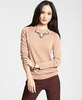 Side Button Boatneck Sweater - Side button detail adds instant polish to this infinitely wearable style in a palette of eye-catching colors. Top off the look with a statement necklace or stacked bangles for a hit of sparkle. Boatneck. Long sleeves. Ribbed neckline, cuffs and hem.