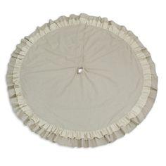 Linen Natural Round Tree Skirt