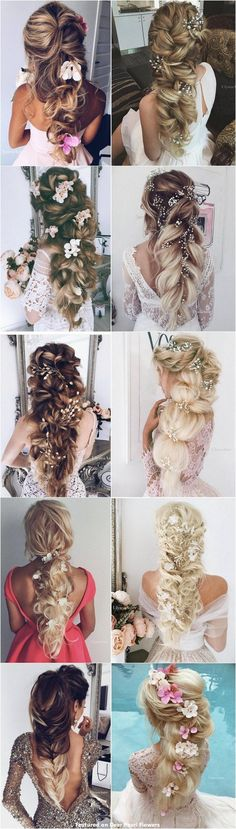 Wedding Hairstyles : 65 New Romantic Long Bridal Wedding Hairstyles to Try / Ulyana Aster www.ulyanaa um lange Haare zu probieren Wedding Hairstyles : 65 New Romantic Long Bridal Wedding Hairstyles to Try / Ulyana Aster www. Best Wedding Hairstyles, Trendy Hairstyles, Messy Hairstyles, Engagement Hairstyles, Long Haircuts, Layered Hairstyles, Bridal Hairstyle, Hairstyle Ideas, Flower Crown Wedding