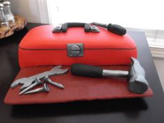 Toolbox cake I made for my husband!