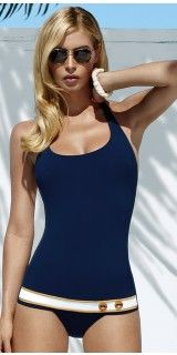 Maryan Mehlhorn 2013 Yacht Heritage Navy Blue One Piece Swimsuit