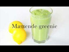 Lær at elske din greenie Happy Foods, Juice Smoothie, Milkshake, Lchf, Glass Of Milk, Food And Drink, Healthy Recipes, Drinks, Breakfast