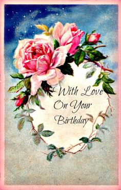 Wings of Whimsy: Rose Frame Angel Vector, Rose Images, Love Never Fails, Love Is Patient, Happy B Day, Vintage Roses, Vintage Pink, Vintage Items, Happy Birthday Cards