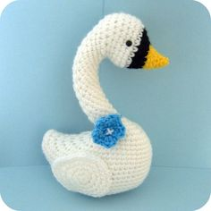 Amigurumi Crochet Swan Pattern Digital Download
