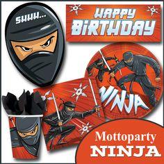 Party Deko Kindergeburtstag Ninja
