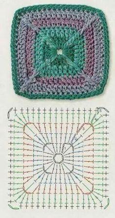 Square unit crochet pattern                                                                                                                                                                                 Más