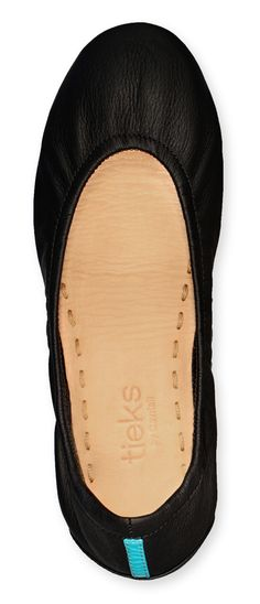 Matte Black Tieks- Designer Leather Ballet Flats