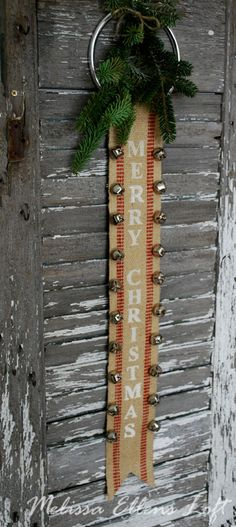 Sleigh Bell Banner Tutorial Posted on 26 December, 2012 by Melissa Christmas Love, Country Christmas, Winter Christmas, Merry Christmas, Vintage Christmas, Christmas Wreaths, Christmas Ornaments, Christmas Projects, Holiday Crafts
