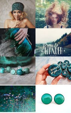 ' Last summer greens' board curator : YUNILIsmiles Colour Schemes, Color Combos, Beautiful Collage, Shades Of Teal, Colour Board, Color Pallets, Mood Boards, Color Inspiration, Pictures