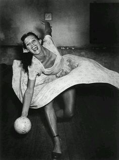 Jerry Hall - vintage bowling night