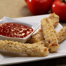 WW recipe, baked mozzerlla sticks using their string cheese. 4pts+ per serving.