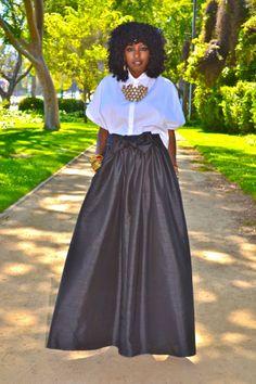 SWATH Look: Boxy Shirt + Full Maxi Skirt