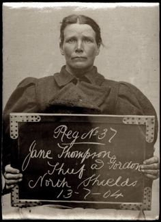 Criminal woman - Jane's mug shot. Circa 1903