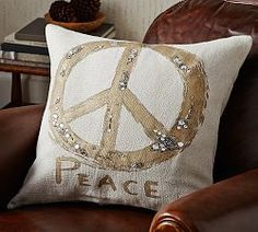 Holiday Pillows & Holiday Throw Pillows | Pottery Barn - I need this to go with the fur pillows.