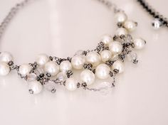 Pearl Necklaces, Fiber Art, Jewels, Photo And Video, Diy, Beautiful, Design, Do It Yourself, Bead Necklaces