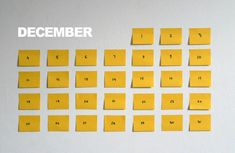Post-It Calendar  Calendar made from post-it paper, the layout and design still needs some work (as always, any of your suggestions and thoughts are more than welcome), but here is the rought concept. The principle how it works: for each day you have a post-it note, each one has a date and a to-do list, before you leave your house, you peel todays note from the wall/frige/whatever and put it in you wallet. Designed by Andrei Slobtsov.