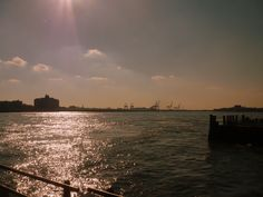 The late afternoon sun on The East River