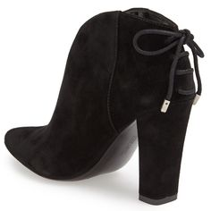 Host Pick- Reduced-Vince Camuto Booties size 6(36) Perfect new booties never touched the floor. 100% beautiful suede. Black color with lace up back. Too many black booties so selling these to someone who can use them! Sad to see them go as they are gorgeous! Can list on Ⓜ️ for less. Vince Camuto Shoes Ankle Boots & Booties
