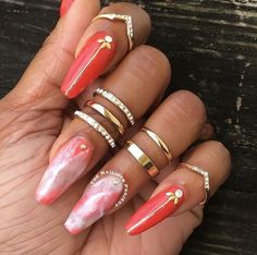 Want some ideas for wedding nail polish designs? This article is a collection of our favorite nail polish designs for your special day. Nail Polish Designs, Acrylic Nail Designs, Acrylic Nails, Gel Polish, Hair And Nails, My Nails, Coffin Shape Nails, Coffin Nail, Wedding Nail Polish