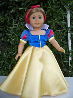 Play Time Edition Original Design Snow White Dress for American Girl or 18 inch Doll on Etsy, $24.50