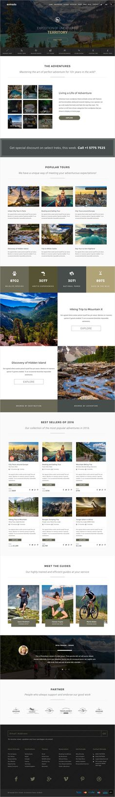 Entrada is wonderful responsive #WordPress theme for #adventure #tours…
