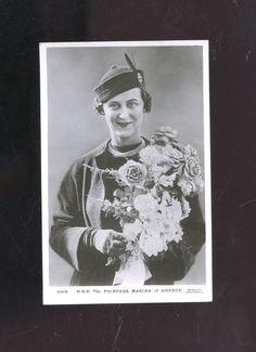 old Princess Marina of Greece royalty photo postcard