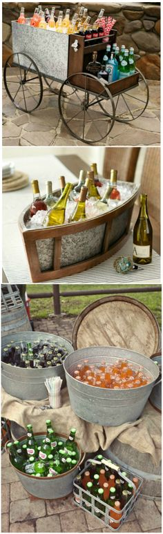 Beverage Serving Ideas ● Items from Pottery Barn. I like these ideas, I say - use whatever you have to use regardless of looks, and serve offering the best: Hospitality ... giving of yourself. A silver tray and a sour smile is not best. Annie Annette Peterson #contest