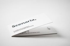 Scenaria - corporate identity & design by moodley brand identity , via Behance Corporate Identity Design, Brand Identity, Stationary Branding, Logo Branding, Branding Design, Logos, Minimal Business Card, Cool Business Cards, Grid Layouts