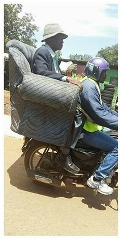 Only in Kisumu they now have First Class boda-boda ride (PICs)