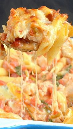 Chicken Sausage Pasta Bake - chicken and sausage cooked with veggies and pasta and baked with cheese Sausage Pasta Bake, Chicken Sausage Pasta, Baked Chicken, Chicken Recipes, Turkey Sausage, Chicken Casserole, Pasta Recipes, Lotsa Pasta, Best Casseroles