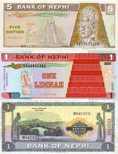 Printable Book of Mormon money