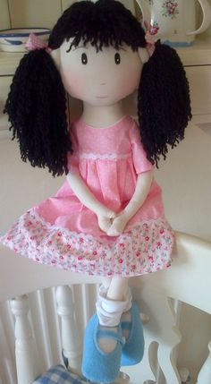 Handmade Collectable Rag Doll EVIE World of by WorldOfSweeties, £30.00