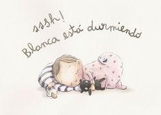 Erase una vez… historias para la pared de la habitación del bebé Children's Book Illustration, Watercolor Illustration, Baby Decor, Kids Decor, Diy Xmas, Belly Painting, Baby Drawing, Baby Art, Cute Images