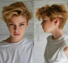 Great hair cut for a growing buzz cut. – Great hair cut for a growing buzz cut. – Great hair cut for a growing buzz cut. Chaotischer Pixie, Messy Pixie Cuts, Cute Pixie Cuts, Short Hair Cuts, Girls With Short Hair, Messy Pixie Haircut, Long Pixie Cuts, Girls With Pixie Cuts, Tomboy Pixie Cut