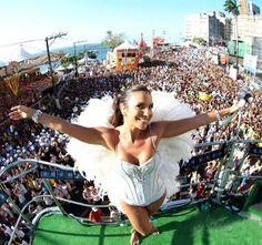 Ivete Sangalo, no carnaval na Bahia