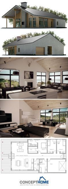 kitchen dining, living layout, perfect..add dropped living and loft/split level bedroom