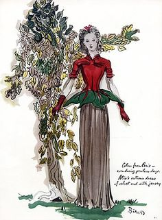 Alix (Germaine Krebs) 1940 Evening Gown, Christian Berard