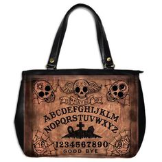 Day of the Dead Ouija Board Large Handbag by Stuff of the Dead