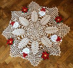 New Hand Crocheted Doily --Christmas Doily--