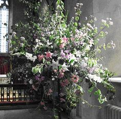 Flowers for 'Three Choirs Festival', Herefordshire arranged by volunteers.