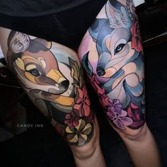 Leading Tattoo Magazine & Database, Featuring best tattoo Designs & Ideas from around the world. At TattooViral we connects the worlds best tattoo artists and fans to find the Best Tattoo Designs, Quotes, Inspirations and Ideas for women, men and couples. Wolf Tattoos, Rabbit Tattoos, Fox Tattoo, Animal Tattoos, Tattoo Ink, Leg Tattoos, Tattoo Drawings, Tatoos, Great Tattoos